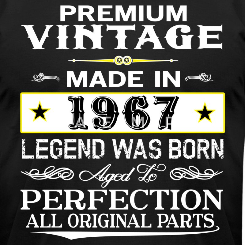 PREMIUM VINTAGE 1967 T-Shirts - Men's T-Shirt by American Apparel