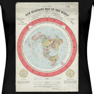 Ladies Flat Earth T-Shirt - Women's Premium T-Shirt