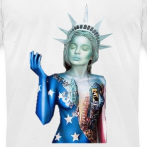 Lady Liberty - Men's T-Shirt by American Apparel