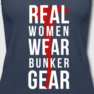 Real Women wear bunker gear Firefighter T Shirt Tanks - Women's Premium Tank Top