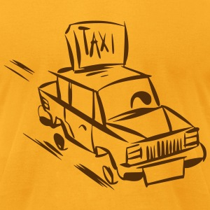Men's T-Shirt by American Apparel TAXI Retro - Men's T-Shirt by American Apparel