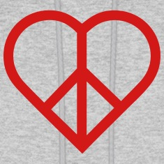peace heart love Hoodies
