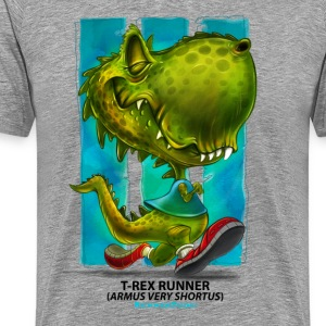 T-Rex runner by Runnertude apparel mens version - Men's Premium T-Shirt