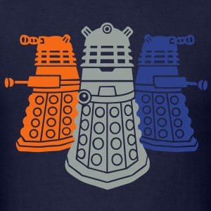 daleks 3 colors  - Men's T-Shirt