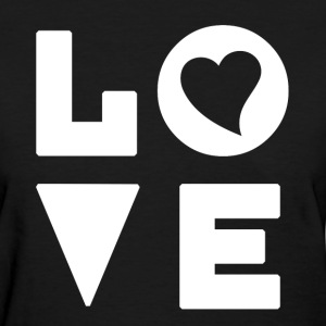 Love Heart - Inspirational - Women's T-Shirt