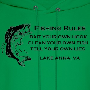 Fishing Rules Lake Anna VA Hoodies - Men's Hoodie
