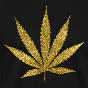 Gold Marijuana T-Shirts - Men's Premium T-Shirt