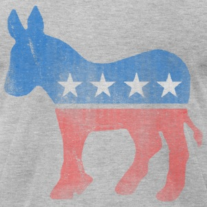 Democrat Donkey  - Men's T-Shirt by American Apparel