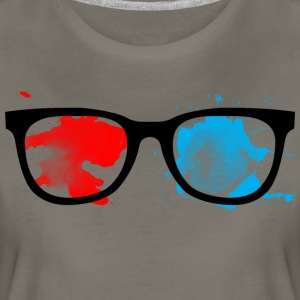 Geek Glasses Paint Splatter - Women's Premium T-Shirt
