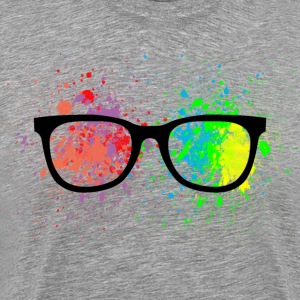 Geek Glasses Paint Splatter - Men's Premium T-Shirt