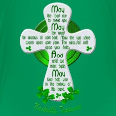 Nashville Irish Blessing Cross Kids' Green TShirts