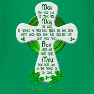 Nashville Irish Blessing Cross Kids' Green TShirts - Kids' Premium T-Shirt