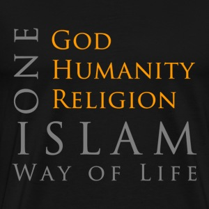 One God-One Humanity-One Religion-Islam T-Shirts - Men's Premium T-Shirt