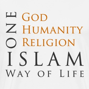 One God-One Humanity-One Religion-Islam - Men's Premium T-Shirt