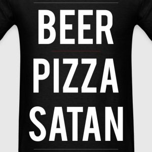 Beer PIzza Satan tee - Men's T-Shirt