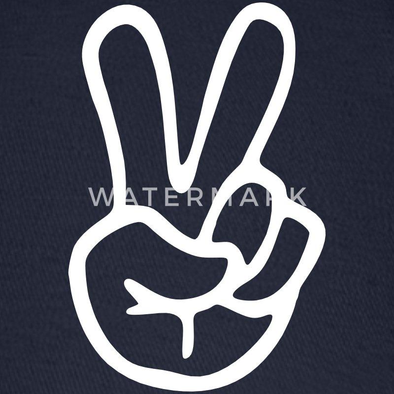 Peace sign hand baseball cap spreadshirt