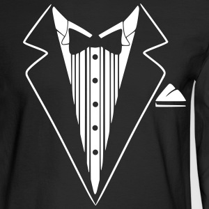 Tuxedo Jacket Costume  Long Sleeve Shirts - Men's Long Sleeve T-Shirt