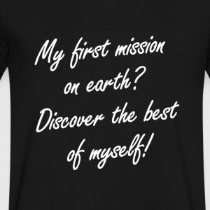 My first mission on earth - Men's V-Neck T-Shirt by Canvas