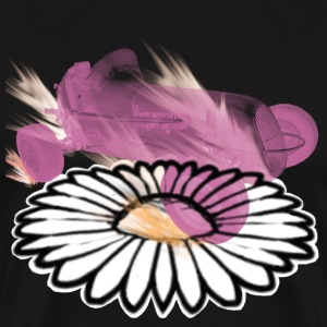 flaming car on daisy - Men's Premium T-Shirt