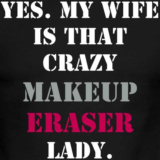 Men's Black Crazy MUE Wife T-shirt