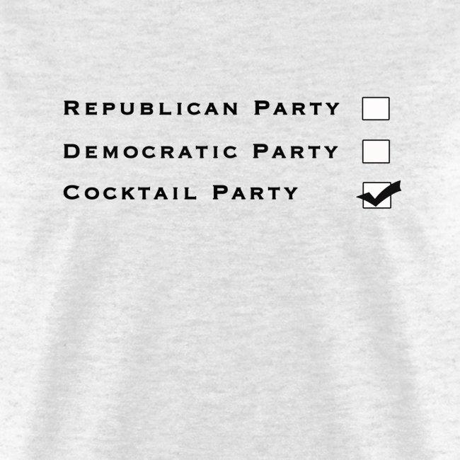 Political Party -  Letra Negra