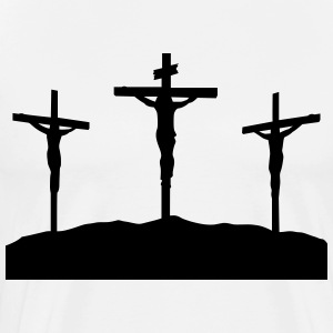 crucifixion at sunset - Men's Premium T-Shirt