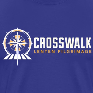 Black And White Crosswalk Lenten Pilgrimage T-Shirts - Men's Premium T-Shirt