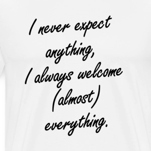 Expect/Welcome - Men's Premium T-Shirt