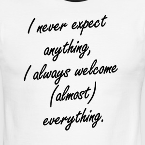 Expect/Welcome - Men's Ringer T-Shirt