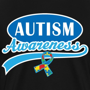 Autism Awareness Puzzle Ribbon T-Shirts - Men's Premium T-Shirt