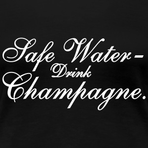 Save Water drink Champagn Women's T-Shirts - Women's Premium T-Shirt