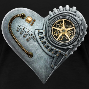 Steampunk Clockwork Heart #1A T-Shirts - Women's Premium T-Shirt