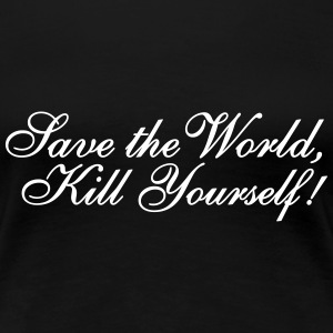 Save the World Women's T-Shirts - Women's Premium T-Shirt
