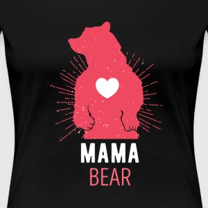 Gift for Moms Mama Bear Mother's Day T Shirt Women's T-Shirts - Women's Premium T-Shirt