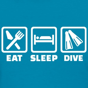 Eat sleep dive Women's T-Shirts - Women's T-Shirt