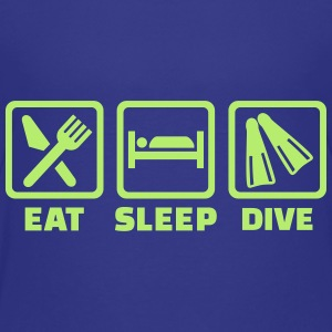 Eat sleep dive Kids' Shirts - Kids' Premium T-Shirt