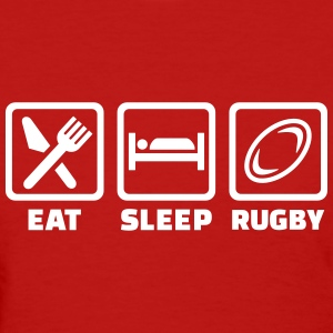Eat sleep Rugby Women's T-Shirts - Women's T-Shirt