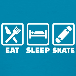 Eat sleep skate Women's T-Shirts - Women's T-Shirt