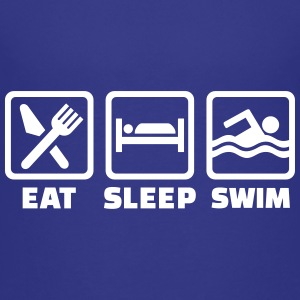 Eat sleep swim Kids' Shirts - Kids' Premium T-Shirt