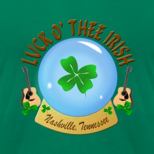 Nashville Luck O' Thee Irish Men's T-Shirts - Men's T-Shirt by American Apparel