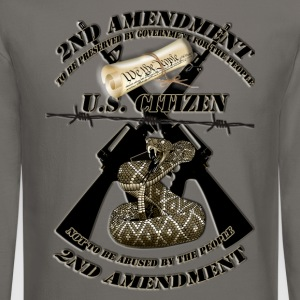 2nd amendment black crossed m16s and rattlesnake1A Long Sleeve Shirts - Crewneck Sweatshirt