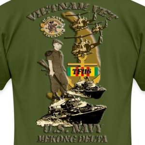 PBR map with yellow borderRED WITH ANCHOR AND VSM  T-Shirts - Men's T-Shirt by American Apparel
