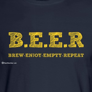 BEER Brew Enjoy Empty Repeat Men's Long Sleeve T-S - Men's Long Sleeve T-Shirt