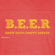 Design ~ BEER Brew Enjoy Empty Repeat Men's Vintage Sport T-Shirt