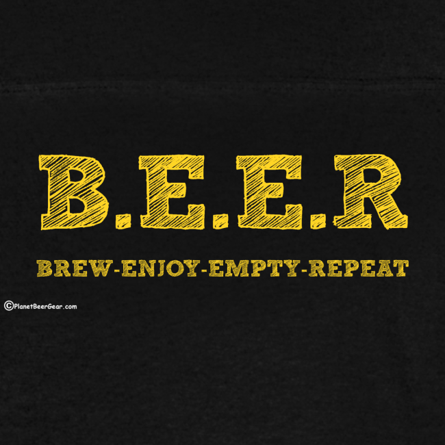BEER Brew Enjoy Empty Repeat Men's Vintage Sport T-Shirt