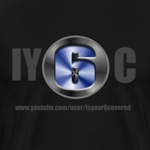 Black IY6C front and back - Men's Premium T-Shirt