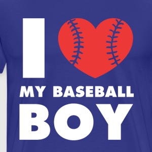 I love my baseball boy Baseball T Shirt T-Shirts - Men's Premium T-Shirt