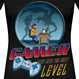 gamer_022016_dragon Women's T-Shirts - Women's Premium T-Shirt