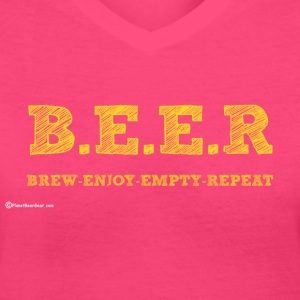BEER Brew Enjoy Empty Repeat Women's V-Neck T-Shir - Women's V-Neck T-Shirt