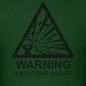 Warning Xplosiv Anger T-Shirts - Men's T-Shirt